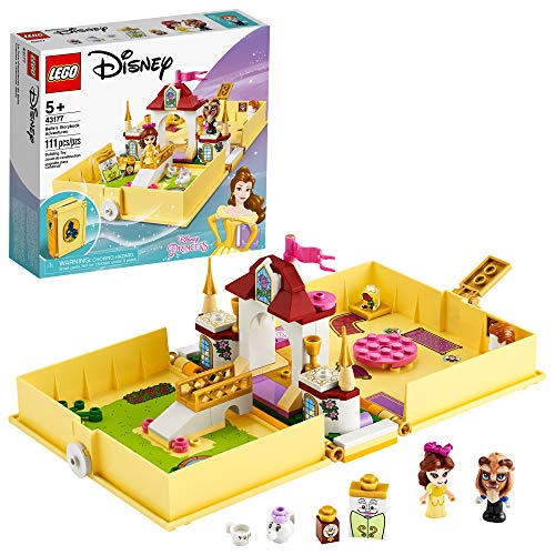 LEGO Disney Belle?s Storybook Adventures 43177 Creative Building Kit Toy, New 2020 (111 Pieces)