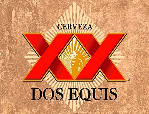 XunYun - Targa in latta 'Dos Equis' Cerveza Birra Bar Alcol Man Caverna, 30 x 20 cm