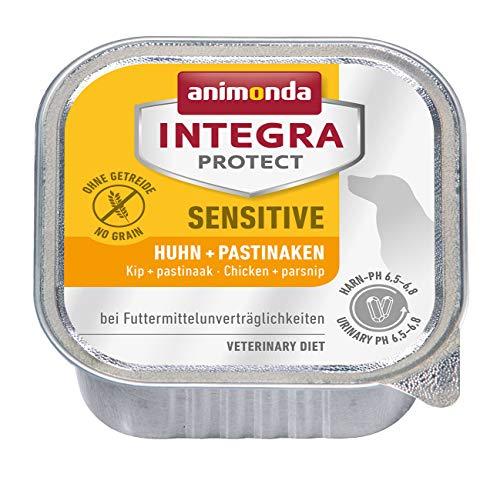 animonda Integra Protect Sensitive Hund, Diät Hundefutter, Nassfutter bei Futtermittelallergie, Huhn + Pastinaken, 11 x 150 g
