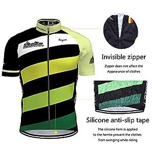 Maillot Ciclismo Corto De Verano para Hombre, Ropa Culote Conjunto Traje Culotte Deportivo con 3D Almohadilla De Gel para Bicicleta MTB Ciclista Bici (Verde, S)