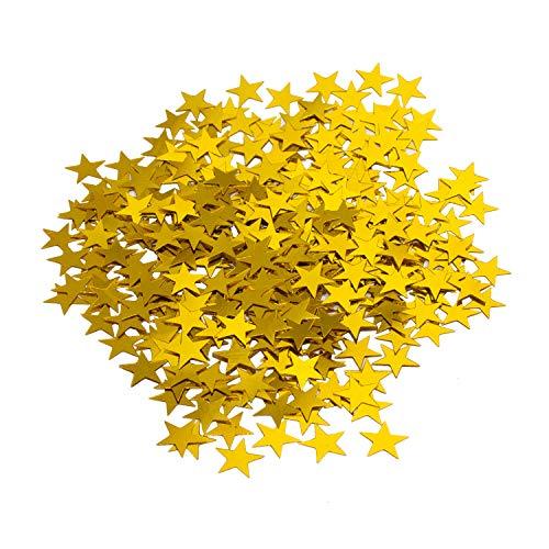 Oblique-Unique® Stern Konfetti Geburtstag Jubiläum Hochzeit Feier Party Gold Tisch Deko Weihnachten Sterne Streudeko 14g