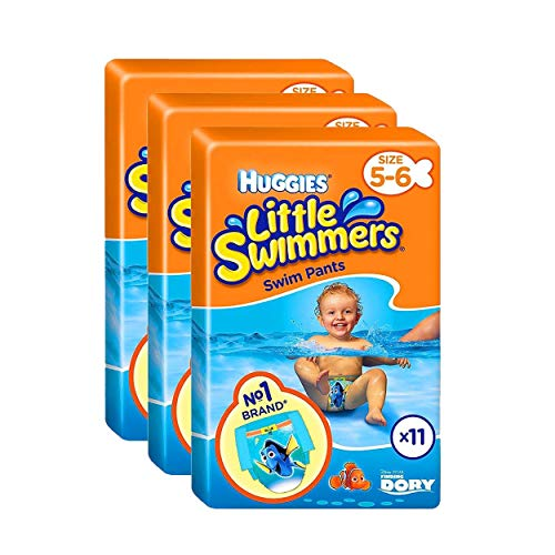 Huggies Little Swimmers Swim Pants Pañales Talla 5-6 Baby 12-18kg Jumbo Pack de 33