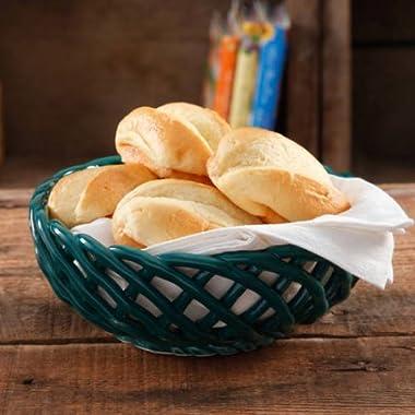 The Pioneer Woman 9 Bread Basket, OCEAN TEAL | Woven Stoneware Bread Basket - OCEAN TEAL (1)