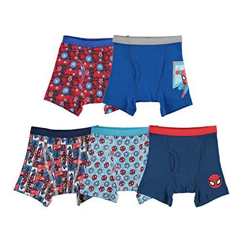 Marvel Spiderman-Boxershorts für Kleinkinder, Jungen, Mehrfarbig, 5 Stück