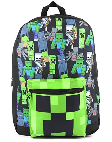 Minecraft Mochila Para Niños Niños Negro Gamer Bag Mochila Escolar