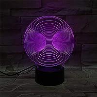 アクリルLED3DランプノベルティタッチスイッチデスクライトナイトライトカラフルなUSBLEDテーブルアクリルランプ3Dイリュージョン家の装飾