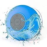 SANON Altavoz Bluetooth Manos Libres Impermeable Inalámbrico Manos Libres Mini Altavoz Succión de Micrófono para Altavoces de Ducha con 3-4 H de Tiempo de Reproducción Ventosa Llamadas