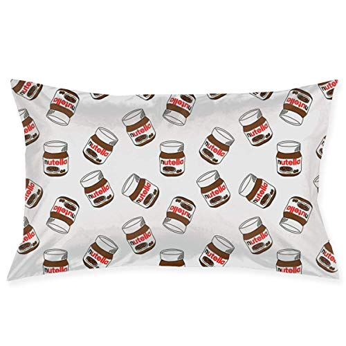 Bikofhd Kissen Case Funny Nutella Novelty Cute Funny Soft and Cozy with Hidden Zipper 1pc Queen Size 20''X30''