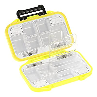 Lixada 12 Compartments Waterproof Storage Case ,Fly Fishing Lure Spoon Hook Bait Tackle Box by Lixada