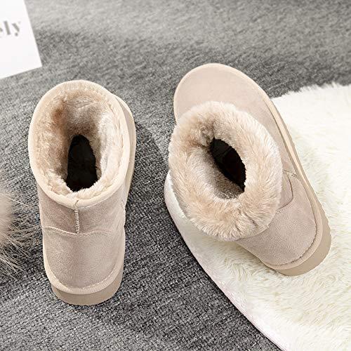 Shukun enkellaarzen sneeuwschoenen vrouwelijk kort brood katoen schoenen vrouwen winter verdikking studenten dikke korte laarzen