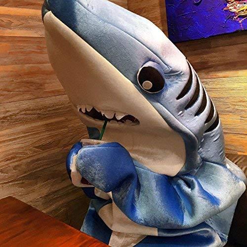 Dastrues Moderno Adulto Infantil Mono Cosplay Traje Tiburón Stage Ropa Disfraz de Halloween Navidad Props - Infantil, Large