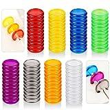 88 Piezas de Anillos de Encuadernación Multicolor Mini Discos Encuadernación de Plástico Discos de Expansión para Agregar Páginas, Notas o Ilustraciones Adicionales