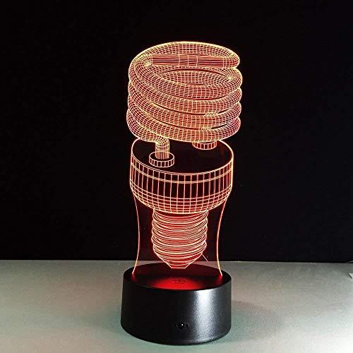 ilusión óptica 3D de luz nocturna lámpara para sala de estar Learning game spiral showroom mejor regalo de para niños y niñas Con interfaz USB, cambio de color colorido