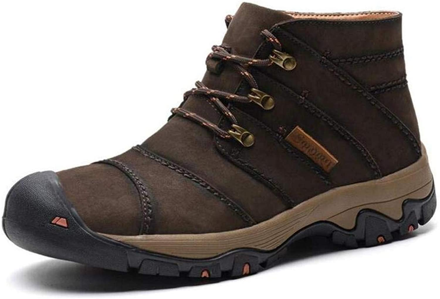 G'z Men's Winter Boots, Warm Leather Hiking shoes Climbing Sneakers Mens Casual Outdoor Walking Hiking Travelling Tooling Boots