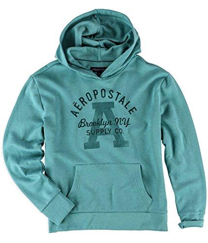 Aeropostale Womens Brooklyn Supply Co. Hoodie Sweatshirt, Green, X-Small