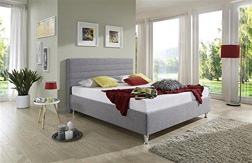 Breckle Polsterbett, Bett 120 x 200 cm Melbourne Bavaria 38 cm Höhe Stärke 6 cm Bündig Textil bordeaux
