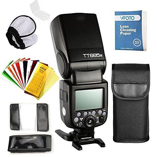 GODOX TT685N TTL Flash Speedlite HSS 1 / 8000s 2.4G Sistema Radio Wireless con Diffusore Flash Softbox e Filtri Colore Flash per Nikon D7100 D7000 D52