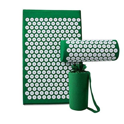 AIOXY Akupressurmatte, Massagematte, Akupressur- und Massagematte zur effektiven Lockerung und Lösung von Verspannungen/in verschiedenen fröhlichen Farben erhältlich,Grün