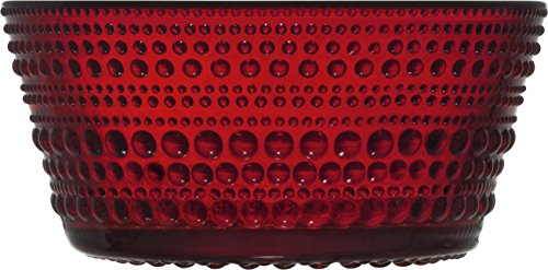 Iittala Kastehelmi Schale, Glas, rot, 23cl