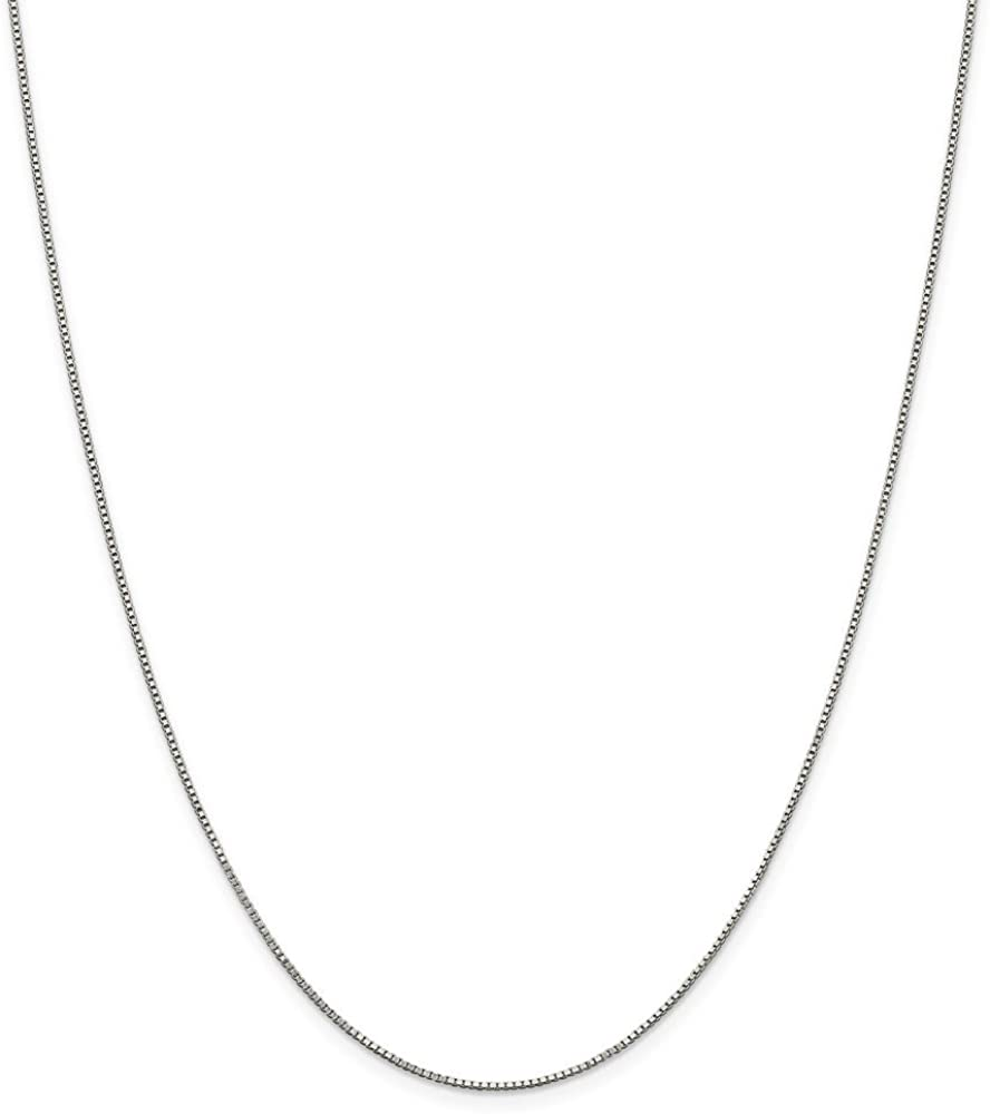 Solid 925 Sterling 5 High quality new popular Silver .90mm Necklace Chain Box