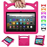 Fire HD 8 Case 2020, All-New Fire HD 8 Plus Tablet Case(Only for 10th Generation, Will Not work for 7th/8th Generation )-Auorld Light Weight Shock Proof Handle Friendly Stand Kids-Proof Case for Amazon Kindle Fire HD 8 Tablet (Rose)
