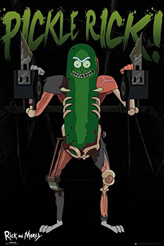 1art1 Rick Y Morty - Pickle Rick, Rickinillo con Disfraz De Rata Póster (91 x 61cm)