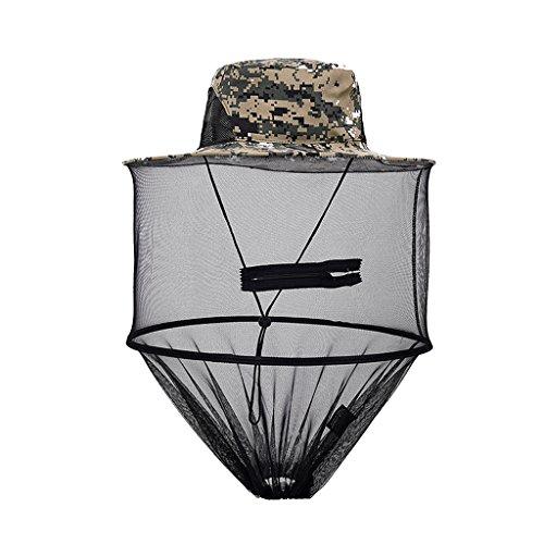 Generic Imkerhut Anglerhut für Bienenschutz Moskitoschutz, Outdoor Kopfschutz und Gesichtschutz Netzhut - Digital-Tarnfarbe