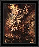 The Fall of The Damned 20x24 Black Ornate Wood Framed Canvas Art by Peter Paul Rubens