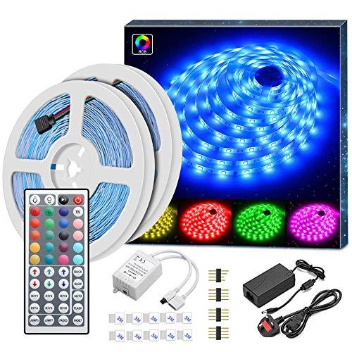 YUY LED-Streifen 5 M (16 4 Ft) LED-Lichtschlauch Farbwechsel Komplettpaket Mit 44 Tasten IR-Fernbedienung LED-Beleuchtungsstreifen Für Die Weihnachtsdekoration In Der Küche,10m