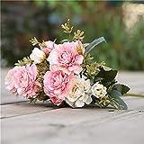 TXXT Flor Artificial Artificial Rose Peony Silk Flor, Boda Home Party Garden Hotel Sala de Estar Oficina DIY Decoración (Color : F)