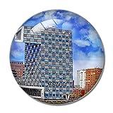 'N/A' Holanda Imán Holanda Euromast Torre Rotterdam Imán de Nevera 3D Artesanía Recuerdo Cristal Refrigerador Imanes Colección Regalo de Viaje