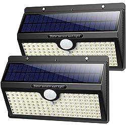 Luce Solare Led Esterno, ?2019 Super Luminosa 138LED-1400 lumen?iPosible Luci Solari Esterno Lampade Solari con Sensore di Movimento Luci Esterno Energia Solare Impermeabile IP65 per Esterno-2 Pezzi