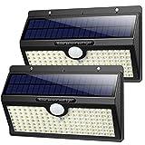 Luce Solare Led Esterno,【2019 Super Luminosa 138LED-1400 lumen】iPosible Luci Solari Esterno Lampade Solari con Sensore di Movimento Luci Esterno Energia Solare Impermeabile IP65 per Esterno-2 Pezzi