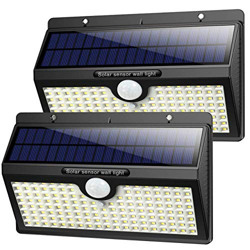 Luz Solar Exterior, [2019 Super Brillante 138 LED - 1400 Lumens] iPosible...