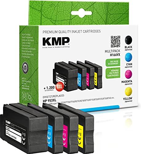 KMP Tintenpatrone Kompatibel mit HP 953 XL Multipack 3-Farbig und Schwarz für HP Officejet Pro 7720/7730/7740/8210/8218/8710/8715/8720/8725/8730/8740