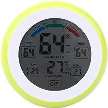 Jacksking Termómetro Digital, Creativo LCD Digital Termómetro de Temperatura Higrómetro Medidor electrónico de Humedad del Tiempo(Amarillo)