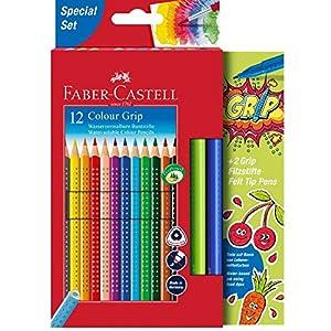 Faber-Castell 201640 – Estuche de 14 lápices de colores y 2 lápices de colores