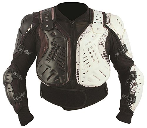 HEYBERRY Protektorjacke Brustpanzer Protektorenhemd Amour Jacket schwarz weiß Größe XL
