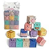 Silikon-Bausteine Baby Greifspielzeug 3D Touch Hand Weiche Bälle Baby Massage Gummi Beißringe Spielzeug
