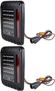 VICASKY Luzes Traseiras LED Compatível Com Jeep Wrangler JK JKU Brake Turn Signal Luz de Estacionamento Lâmpada Luz Revers...