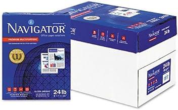 Navigator Premium Copy/Laser/Inkjet Paper, 99 Brightness, 24 lb, Letter Size (8.5 x 11), White, 5000 Sheets per Carton (NM...