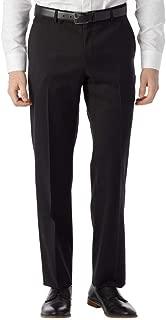 Men's Modern Fit SOHO Comfort EZE Super 120's Gabardine Trouser Pants, Black, 33