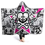 Soft and Warm Flannel Tokidoki Throw Fleece Hooded Wearable Blanket for Couch Bed for Adults Men Women Girls Boys Kids