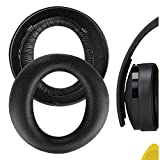 Geekria QuickFit Protein Leather Replacement Almohadillas para Sony Playstation Gold Wireless New Version 2018, PS4 Gold Wireless 500 Million Limited Edition Auriculares de Almohadillas(Negro)