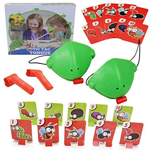 ZHURGN Juego de la máscara de la lengua, juguetes de la tarjeta de rana, juego de errores de captura, conjuntos Tomar tarjetas, comer Pest Car Double Game Desktop Games Board juegos, divertidos juegos