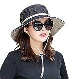 Unisex Sun Protection Hat Women Summer UPF Bucket Cap Outdoor Packable Fishing Hiking Gardenning Headgear