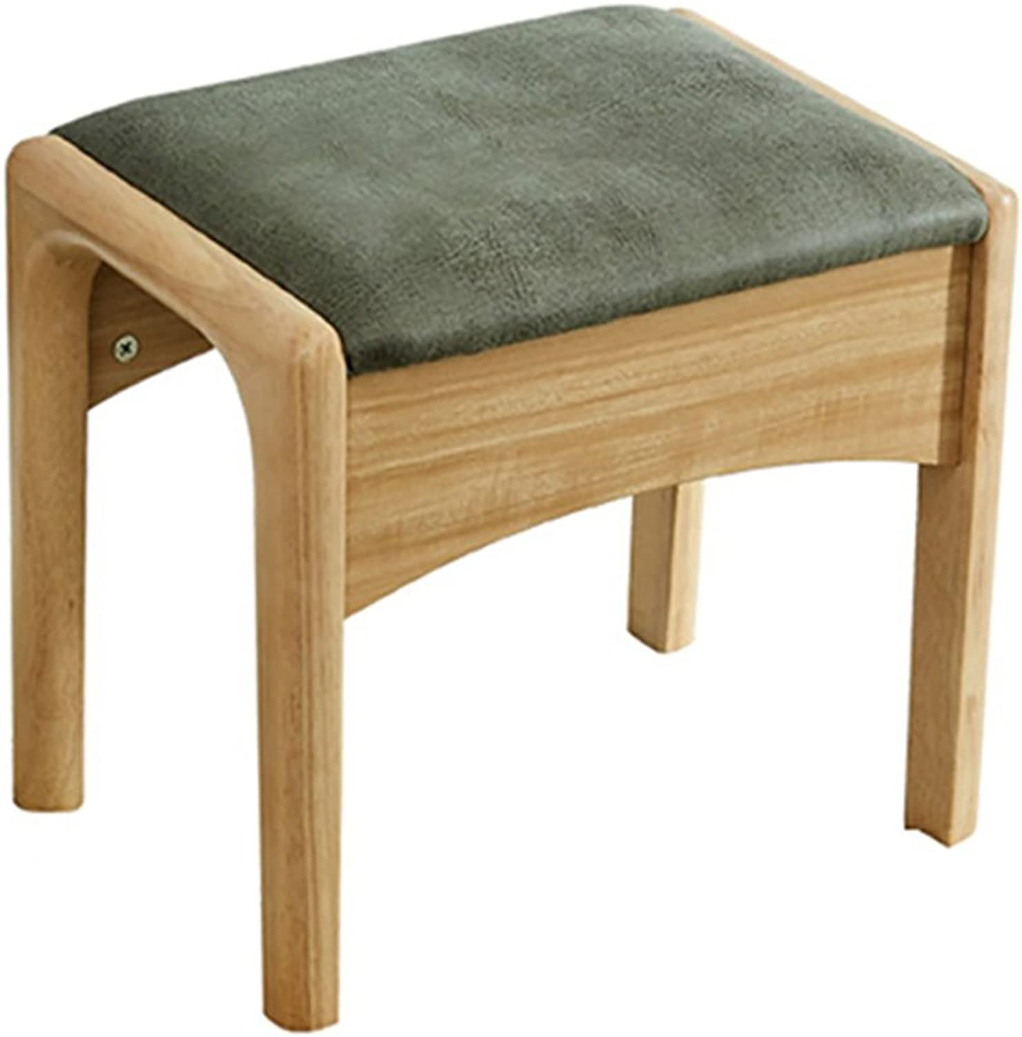 European Chair Solid Wood Makeup Stool, Small Apartment, shoes Bench, Square Stool, Bedroom, Simple Dressing Stool