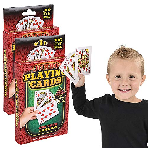 Large Playing Cards Deck, 3' x 5' Inches (2-Pack)