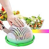 Salad Cutter Bowl, Fruit Vegetable Salad Chopper Bowl, Upgraded Easy Salad Make, Fresh Salad Slicerfruit juice