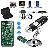 Jiusion Original 40-1000X USB Digital Microscope with Portable Carrying Case, Magnification Stereo Endoscope...